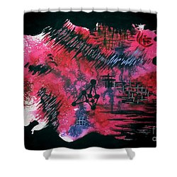 Untitled-110 Shower Curtain