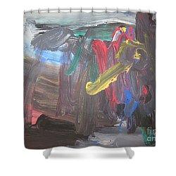 Untitled 128 Original Painting Shower Curtain