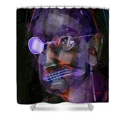 Shower Curtain featuring the painting Untitled - 12dec2016 by Jim Vance