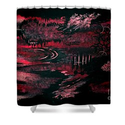 Untitled-140 Shower Curtain