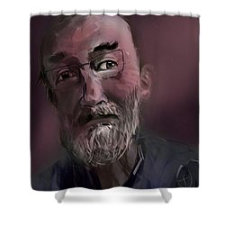 Shower Curtain featuring the painting Untitled - 26nov2016 by Jim Vance