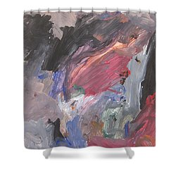 Untitled #6  Original Painting Shower Curtain