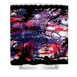 Untitled-80 Shower Curtain
