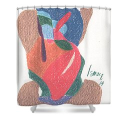 Shower Curtain featuring the drawing Untitled Abstract by Rod Ismay
