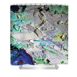 Untitled Abstract With Droplet ## Shower Curtain