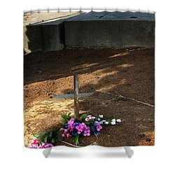 Untitled Grave Shower Curtain by Peter Piatt