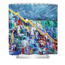 Shower Curtain featuring the painting Untitled by Judith Rhue