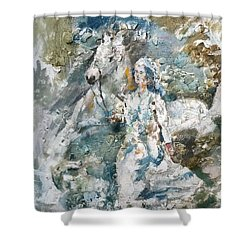 Dreams Shower Curtain by Khalid Saeed