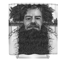 Train Of Thoughts Shower Curtain by Richie Montgomery