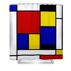 Untitled Shower Curtain by Oliver Johnston