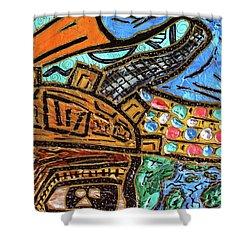 Untitled Olmec And Tehuti Shower Curtain