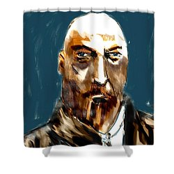 Shower Curtain featuring the painting Ivan by Jim Vance