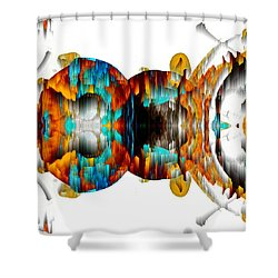 Shower Curtain featuring the digital art Untitled Series 992.042212 -b by Kris Haas
