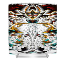 Shower Curtain featuring the digital art Untitled Series 992.042212 by Kris Haas