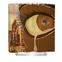 Untitled Tears Shower Curtain