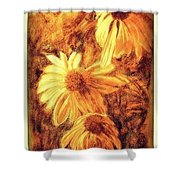 Shower Curtain featuring the digital art Untitled  by Antonia Citrino