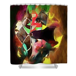 Shower Curtain featuring the photograph Untitled Work No. 3 by James Bethanis