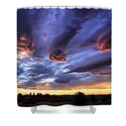 Alien Cloud Formations Shower Curtain