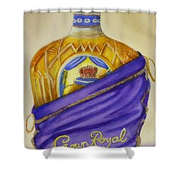 Shower Curtain featuring the painting Unveil The Crown .... Whisky by Kelly Mills