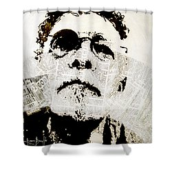 Shower Curtain featuring the painting Unwanted Things by Ron Richard Baviello