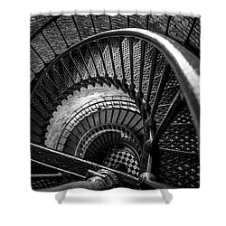 Shower Curtain featuring the photograph Unwind  - Currituck Lighthouse by David Sutton