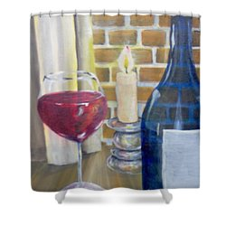 Shower Curtain featuring the painting Unwind by Saundra Johnson