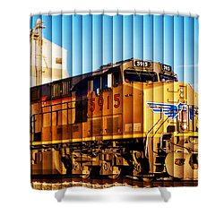 Up 5915 At Track Speed Shower Curtain by Bill Kesler