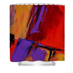 Shower Curtain featuring the painting Up And Down - Art By Elise Palmigiani by Elise Palmigiani