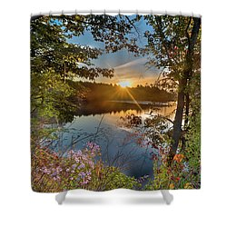 Up Early For The Start Of Fall Color... Shower Curtain