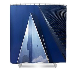 Up In New York Shower Curtain by Paul Wilford