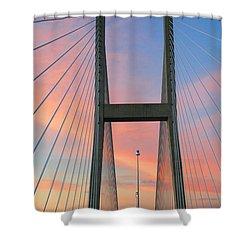 Up On The Bridge Shower Curtain
