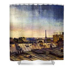 Shower Curtain featuring the photograph Up On The Roof by John Rivera