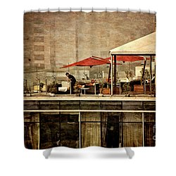 Shower Curtain featuring the photograph Up On The Roof - Miraflores Peru by Mary Machare