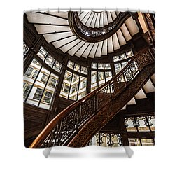 Up The Iconic Rookery Building Staircase Shower Curtain