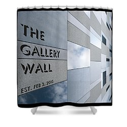 Shower Curtain featuring the photograph Up The Wall-the Gallery Wall Logo by Wendy Wilton