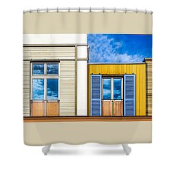 Shower Curtain featuring the photograph Up Town by Paul Wear