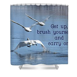 Shower Curtain featuring the photograph Up, Up And Away Carry On by DeeLon Merritt