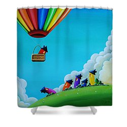Up Up And Away Shower Curtain by Cindy Thornton