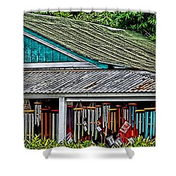 Upcountry Chimes Shower Curtain