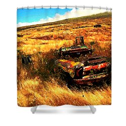 Upcountry Wreck Shower Curtain by Kenneth Armand Johnson