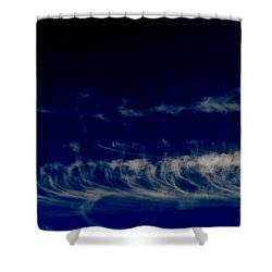 Shower Curtain featuring the photograph Updrafts Shaping Cirrus Clouds 5  by Lyle Crump