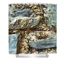 Shower Curtain featuring the painting Upon The Tree The Wind Is Shaking by Sir Josef - Social Critic - ART