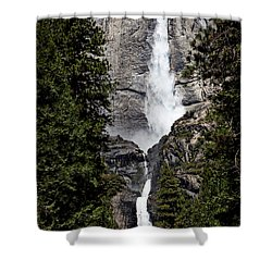 Upper And Lower Yosemite Falls Shower Curtain by Garry Gay