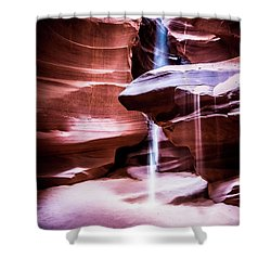 Shower Curtain featuring the photograph upper antelope Canyon by Norman Hall