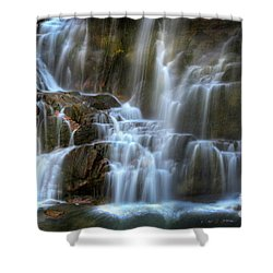 Upper Beartooth Falls Shower Curtain
