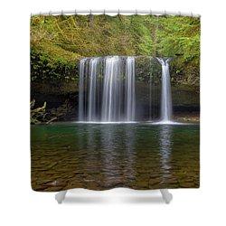 Upper Butte Creek Falls In Fall Season Shower Curtain by David Gn