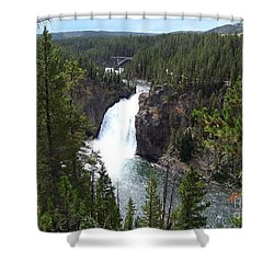 Shower Curtain featuring the photograph Upper Falls by Charles Robinson