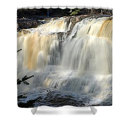 Upper Falls Gooseberry River Shower Curtain