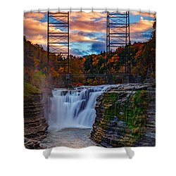 Upper Falls Letchworth State Park Shower Curtain by Rick Berk