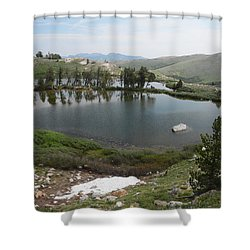 Upper Hidden Lake Shower Curtain